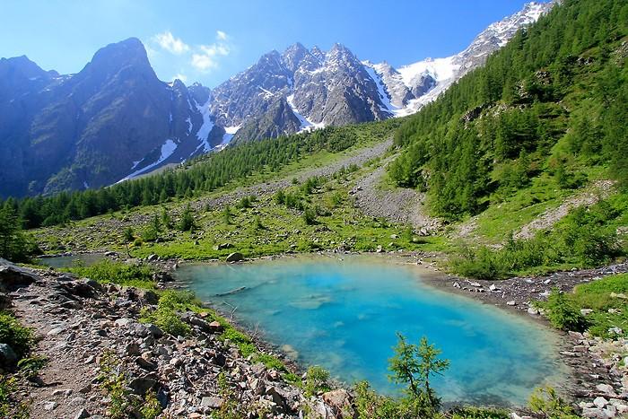 Randonnée facile à Serre Chevalier : Le lac de la Douche